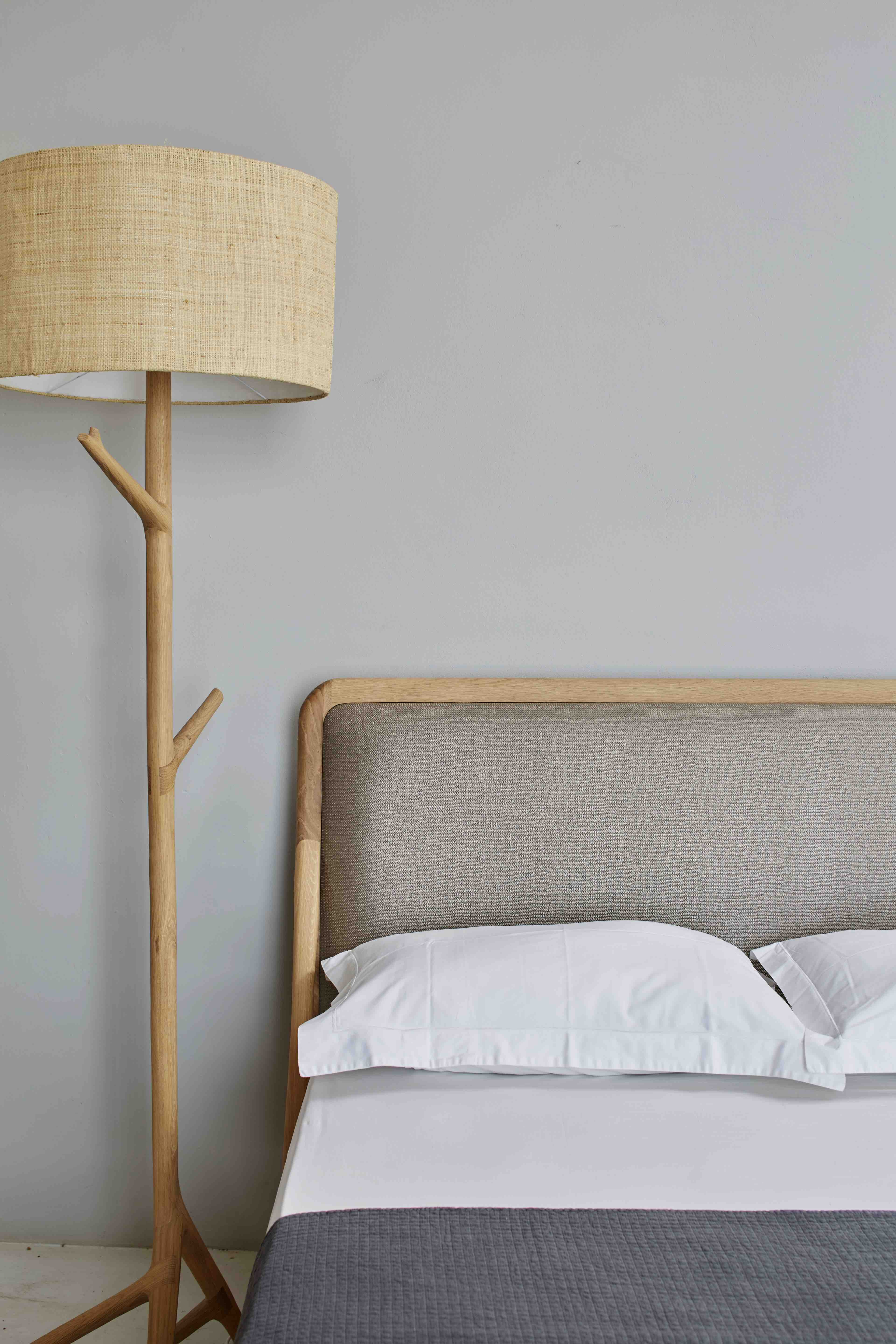 Standing Lamp and Melike Queen size bed.