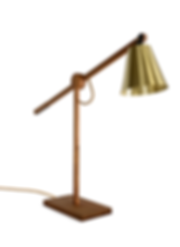 David Krynauw Lure Lamp | Iroko Brass Table Top Desktop Light