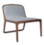 Walnut wood occasional chair wth luxury fabric upholstery by david krynauw