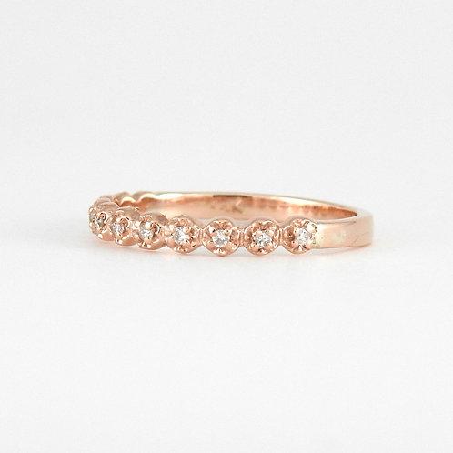 Dainty flower diamond band