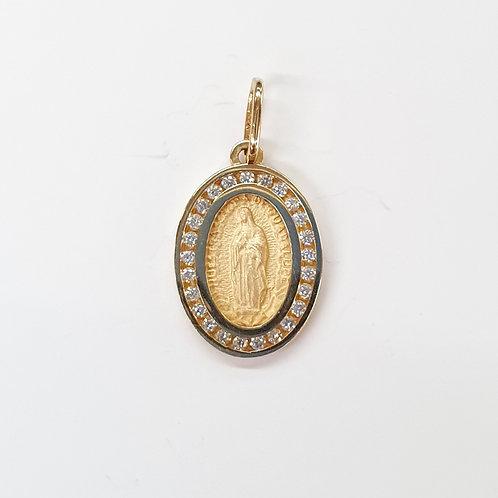 Virgen de Guadalupe con circonias