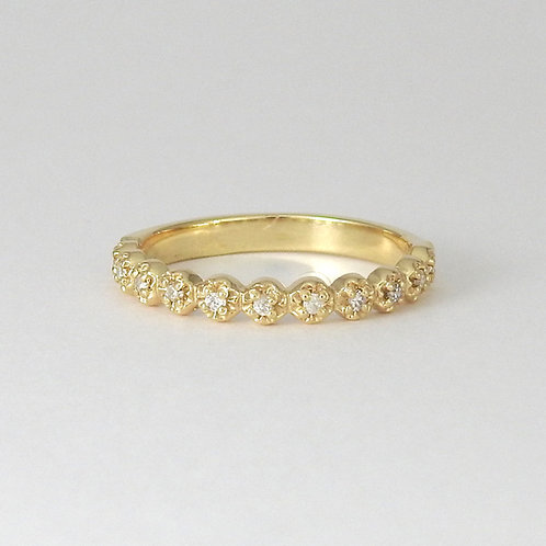 Dainty flower diamond band