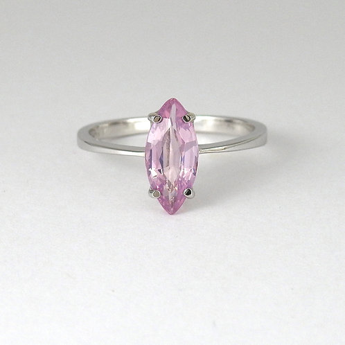 Marquise purple spinel ring