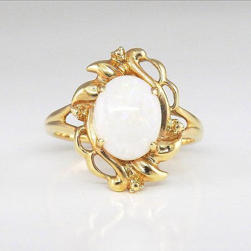 Gemstone ring - Ópalo con diamantes