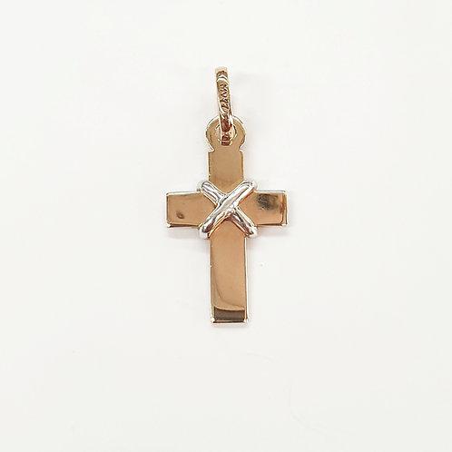 Cruz amarre oro combinado
