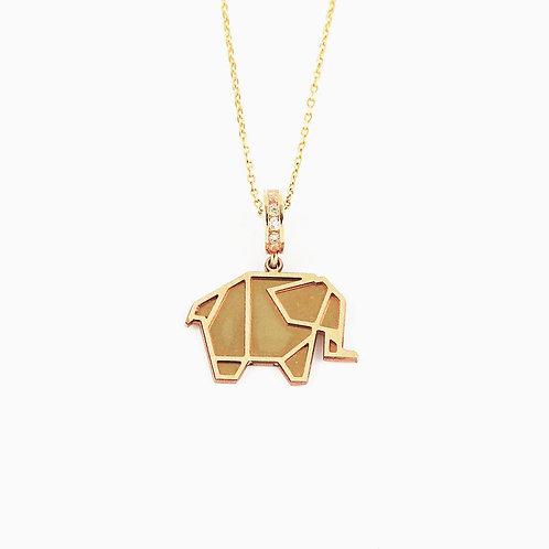 Dije elefante con cadena