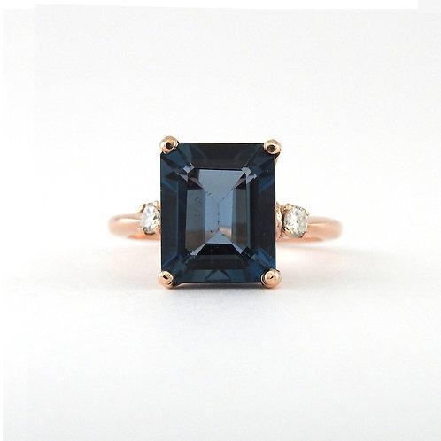 London blue topaz & diamonds