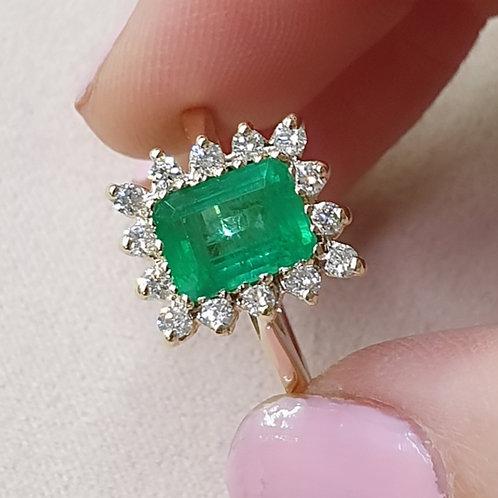 Emerald & diamonds Princess inspiration