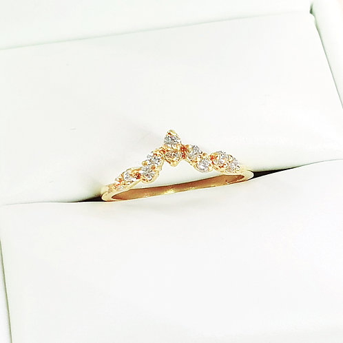 Leaf diamond band