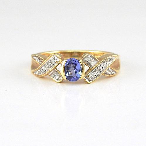 Tanzanita y diamantes