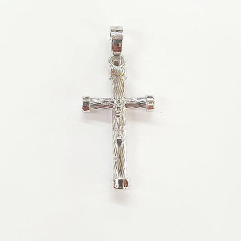 Cruz corrugada con cristo