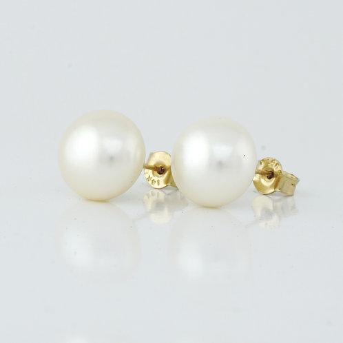 Aretes de perla cultivada 14k