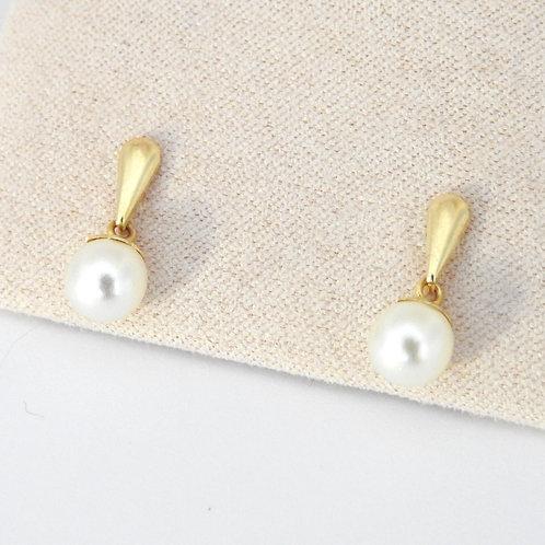 Barra lisa perla colgante