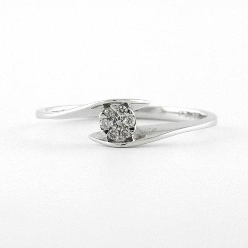 Roseta de diamantes entre brazos 0.07qts