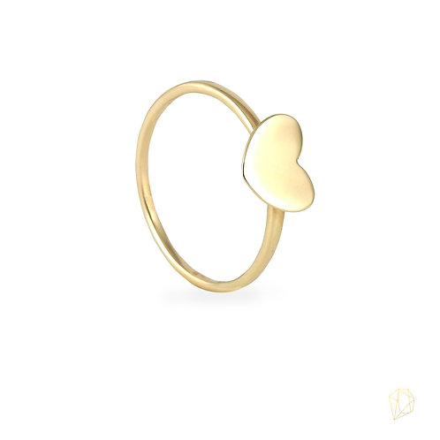 Anillo corazón oro 14k