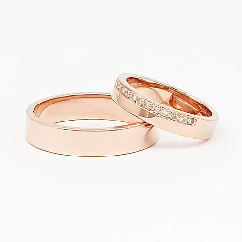 Argollas rose gold & diamonds