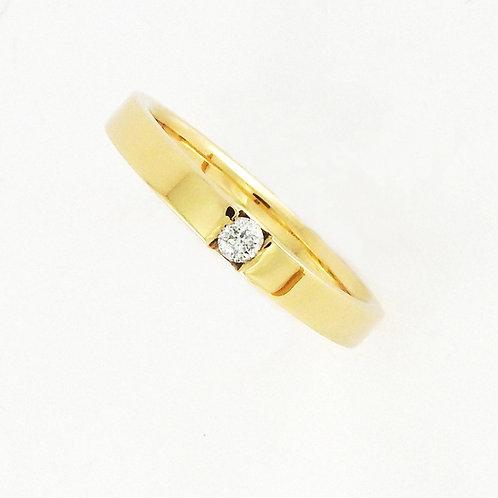 Argolla lisa con diamante