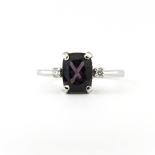 Dark purple spinel & diamonds