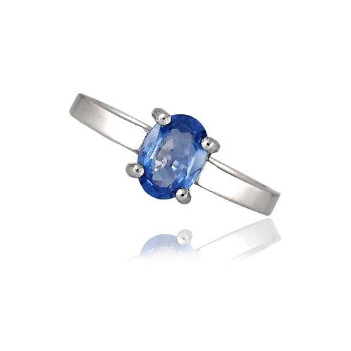 Single stone Saphire Ring