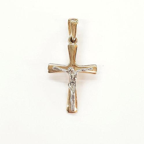 Cruz con cristo Oro combinado