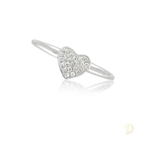 Corazón con diamantes