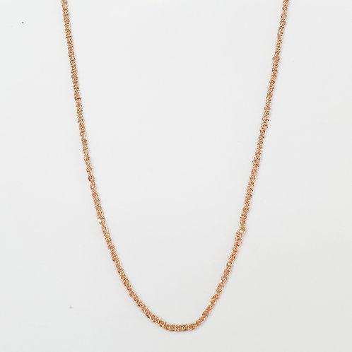 Copia de Cadena baby rope oro rosa 45cm