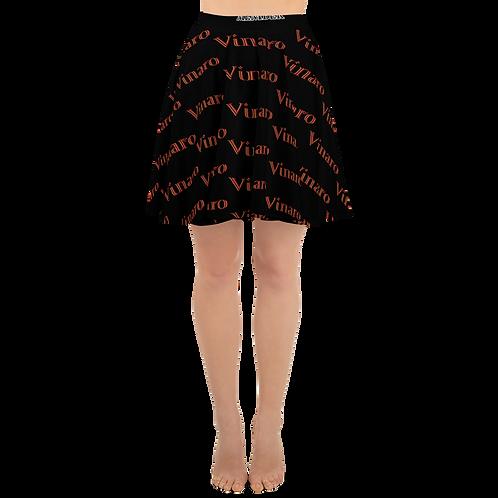 Vinaro Women Skater Skirt Black