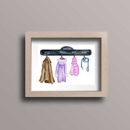 Raincoat Family Print