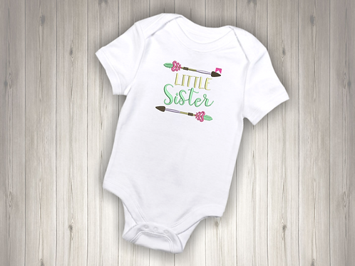 Little Sister Embroidered Baby Suit
