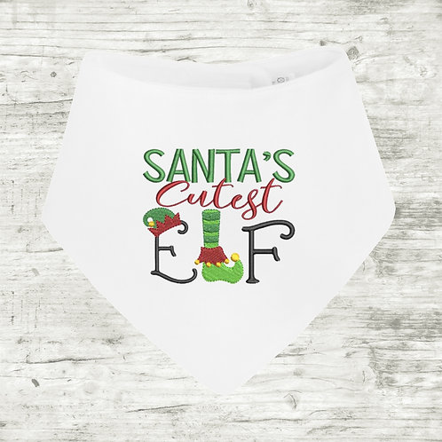 Santa's Cutest Elf Bib