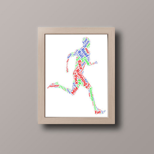 Runner Word Art Print