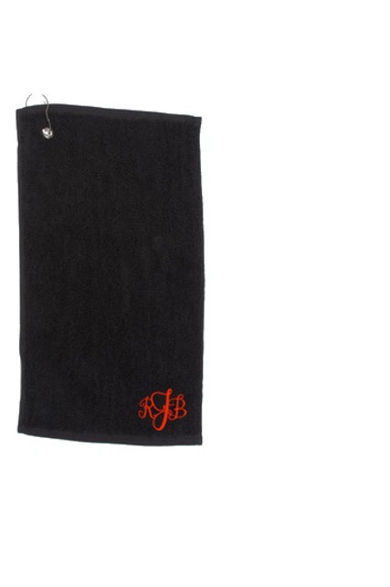 Luxury Personalised Golf Towel with Stylish Monogram Detail