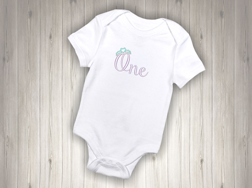 One - Tiara Embroidered Baby Suit