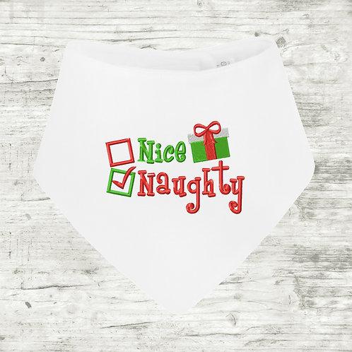 Naughty / Nice Bib