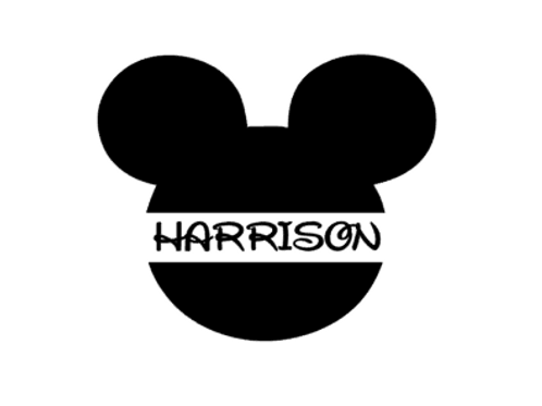 Mickey Mouse with Name - Vinyl Design