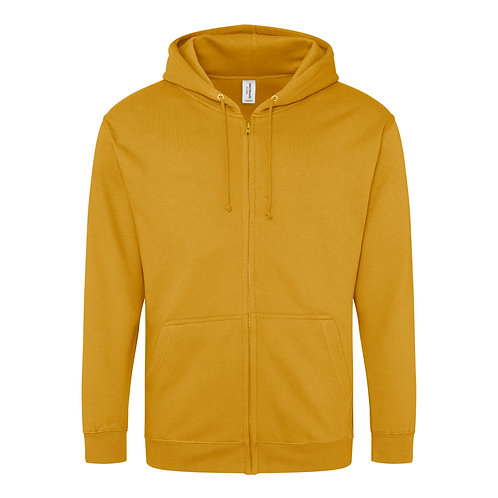 Hillside Adult Zipped Hoodie - Orange's & Yellow's