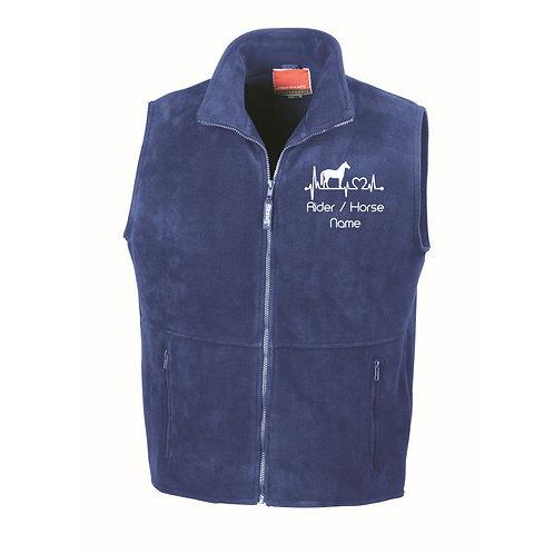 Personalised Equestrian Fleece Gilet