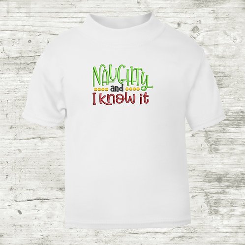 Naughty & I Know It T-shirt
