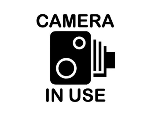 Camera In Use Decal / Sticker
