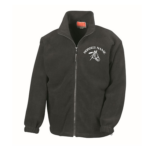 Personalised Equestrian Fleece Jacket