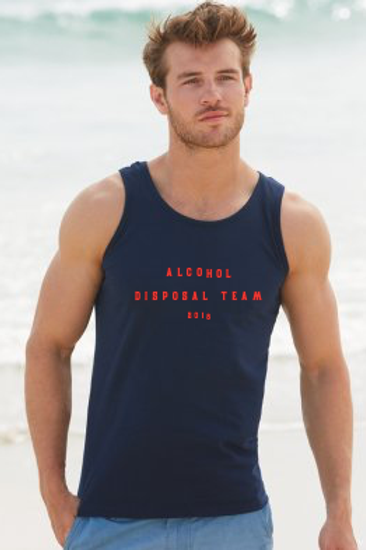 Alcohol Disposal Team Mens Holiday Athletic Vest Top