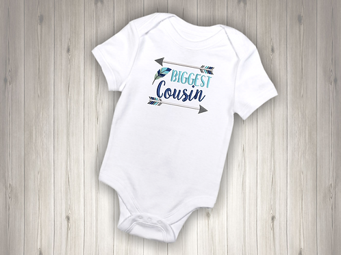 Biggest Cousin Embroidered Baby Suit