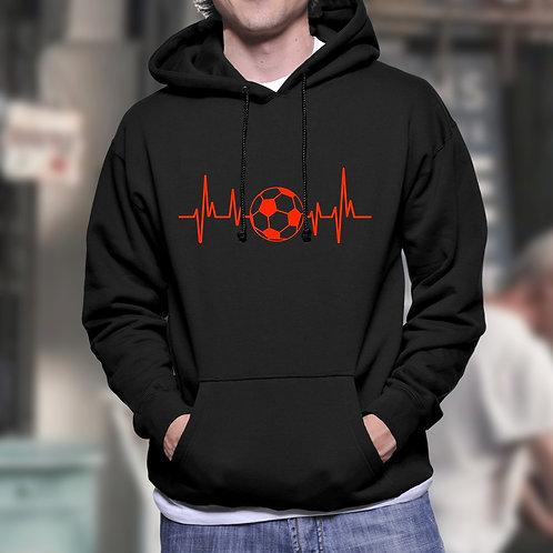 Heartbeat Football Hoodie