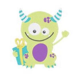 Birthday Monster Embroidery Design