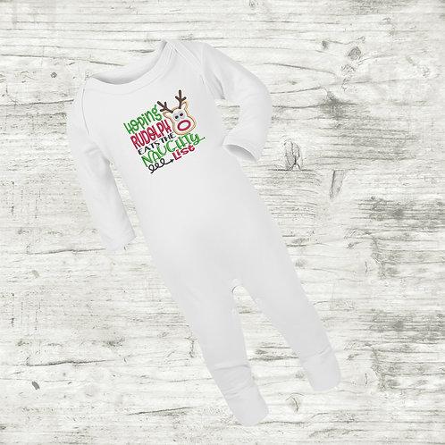 Hoping Rudolph Eats The Naughty List Sleep Suit