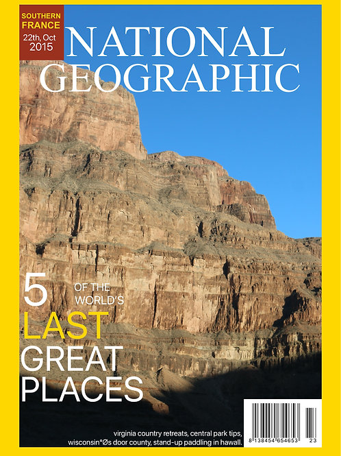 Personalised National Geographic Magazine Cover