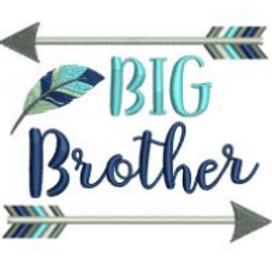 Big Brother Arrows Embroidery Design