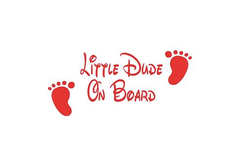 Little Dude On Board Car Sticker
