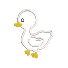 Duck Applique Embroidery Design