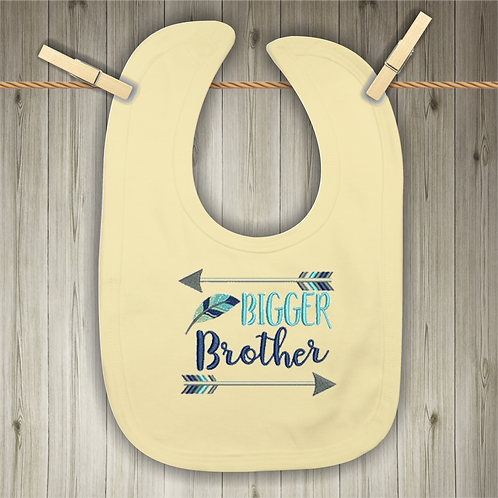 Bigger Brother Embroidered Baby Bib